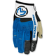 Blue/White MX1 Gloves