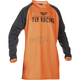 Fluorescent Orange/Black Windproof Technical Jersey
