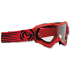 Youth Red/Black Qualifier Slash Goggles - 2601-2129