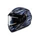 Black/Gray/Blue CS-R3 Spike MC-1 Snow Helmet w/Framed Electric Shield