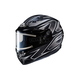 Black/Gray/Silver CS-R3 Spike MC-5 Snow Helmet w/Framed Electric Shield