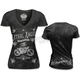 Womens Skeleton Biker T-Shirt