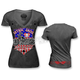 Womens USA Motorcycle T-Shirt
