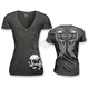 Womens Wing Skull Burnout T-Shirt