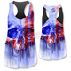 Womens USA Painted Skull Tank Top