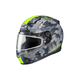 Flat Dark Gray/Light Gray/Hi-Viz Green CL-17SN Void MC-3HF Snow Helmet w/Frameless Dual Lens Shield