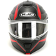 Semi-Flat Black/Gray/Red IS-MAX 2 Mine 2 MC-1SF Snow Helmet w/Frameless Dual Lens Shield