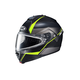 Semi-Flat Black/Gray/Neon Greem IS-MAX 2 Mine MC-3HSF Snow Helmet w/Frameless Dual Lens Shield