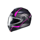Semi-Flat Black/Gray/Pink IS-MAX 2 Mine MC-8SF Snow Helmet w/Frameless Dual Lens Shield