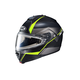 Semi-Flat Black/Gray/Neon Green IS-MAX 2 Mine MC-3HSF Snow Helmet w/Frameless Electric Shield