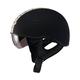 Flat Black/Antique White GM65 Naked Half Helmet