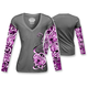 Womens Heart Lock Tattoo Long Sleeve Shirt