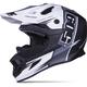 Matte Black/White Trace Altitude Carbon Fiber Helmet