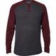 Heather Burgundy Dragger Long Sleeve Shirt