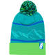 Green Peak Pom Beanie - 509-HAT-PKB