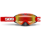 Red Revolver Goggles w/Fire Mirror/Clear Tint Lens - 509-REVGOG-17-RE