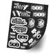 Snow Sticker Sheet - 509-SN-STK