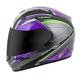 Purple/Silver EXO-R410 Kona Helmet