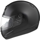 Black GM38S Snowmobile Helmet w/Dual Lens Shield