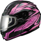 Black/Pink GM64S Carbide Modular Snowmobile Helmet w/Dual Lens Shield