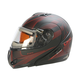 Matte Black/Red/Gray Tranz RSV Tribe Modular Snow Helmet w/Electric Shield