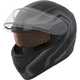 Matte Black/Charcoal Flex RSV Lucas Snow Modular Helmet w/Electric Shield