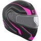 Matte Black/Pink/Charcoad Flex RSV Lucas Snow Modular Helmet w/Electric Shield
