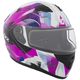 Pink/Black/White Flex RSV Flake Snow Modular Helmet w/Electric Shield