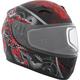 Youth Black/Red/Gray RR610Y Mecanic Snow Helmet
