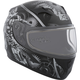 Youth Black/Gray RR610Y Mecanic Snow Helmet