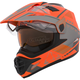 Matte Orange/Gray Quest RSV Ridge Adventure Helmet w/Electric Shield