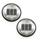 Chrome 4.5 in. LED Passing Lamps - ABIG4.5-A6KC