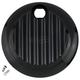 Black Finned Fuel Door - 04-521-1