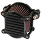 Black Finned Omega Air Cleaner - 10-240-1