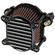 Black/Silver Finned Omega Air Cleaner - 10-240-2