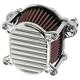 Chrome Finned Omega Air Cleaner - 10-240-3