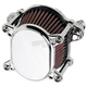 Chrome Smooth Omega Air Cleaner - 10-242-3