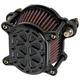 Black Techno Omega Air Cleaner - 10-244-1