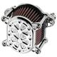 Chrome Techno Omega Air Cleaner - 10-244-3