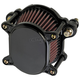 Black Smooth Omega Air Cleaner - 02-167-1