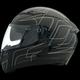 Black/Silver Strike OP SV Helmet