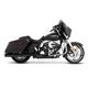 Black Slimline 4 in. True Duals w/Chrome End Caps - 100-0401C