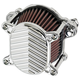 Chrome V-Fin Omega Air Cleaner - 02-169-3