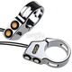 Chrome LED Dual Rat Eye 49mm For Mount Turn Signals - 05-200-3C