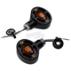 Black Omega LED Center Mount Turn Signals - 05-250-AB