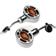 Chrome Omega LED Center Mount Turn Signals - 05-250-AC