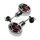 Chrome Omega LED Center Mount Turn Signals - 05-250-RC