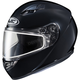 Black CS-R3 Snow Helmet w/Framed Dual Lens Shield