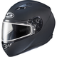 Matte Black CS-R3 Snow Helmet w/Framed Dual Lens Shield