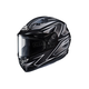 Flat Black/Gray/Silver CS-R3 Spike MC-5 Snow Helmet w/Framed Dual Lens Shield